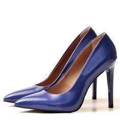 BLUE Stiletto shoes - romanian designers SHOP ONLINE Blue Stilettos, Stiletto Shoes, Pumps, Heels, Indigo, Designers, Shopping, Fashion, Heel