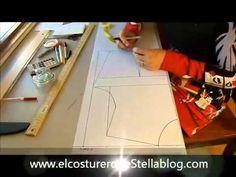El costurero de Stella Trazo y corte del basico de la blusa - YouTube