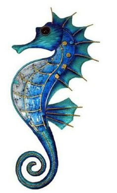 Seahorses – Sealife / Nautical – Giftware – Wholesaler, Party … - World of Animals Seahorse Tattoo, Seahorse Art, Seahorses, Seahorse Drawing, Seahorse Painting, Colorful Seahorse, Ocean Tattoos, Nautical Tattoos, Sea Life Art