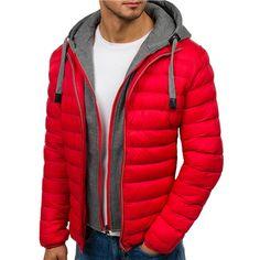 Zogaa 4 colors mens parka jacket winter hooded coat men cotton puffer jackets warm clothes windbreaker man clothing