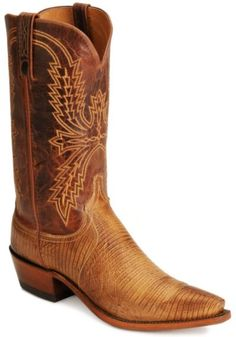 Handcrafted Lucchese 1883 lizard cowboy boots