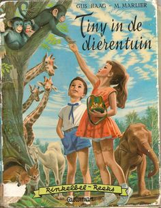 Tiny in de dierentuin (Dutch translation of Martine illustrated by Marcel Marlier) - from my own collection Old Children's Books, Vintage Books, Vintage Art, Marcel, Cute Kids Photos, Illustration Photo, Vintage Fairies, Chica Anime Manga, Vintage Images
