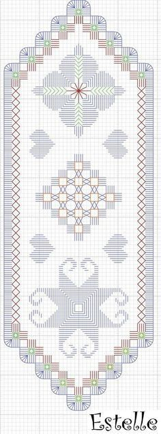 Lecture d'un message - mail Orange (not strictly blackwork but beautiful anyway) Types Of Embroidery, Learn Embroidery, Hand Embroidery Stitches, Embroidery Techniques, Cross Stitch Embroidery, Embroidery Patterns, Doily Patterns, Cross Stitch Charts, Cross Stitch Patterns
