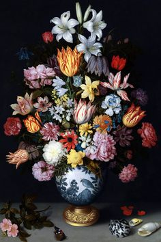 A Still Life of Flowers in a Wan-Li Vase Mural                                                                                                                                                                                 More