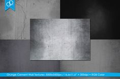 Grunge Cement Wall Textures by cDDesign on Creative Market