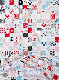 Stash Buster Quilt 1 - A Checkerboard Quilt   Red Pepper Quilts 2016