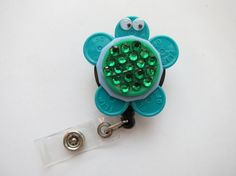 Turtle badge made of vial tops!