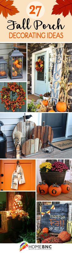 Fall Porch Decorations #autumn_outdoor_decor