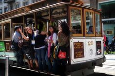 Ride a cable car and shop in Union Square