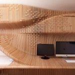 Wood workspace