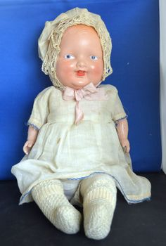 Antique Doll ND Natural Doll Co. Composition Head & Arms 22"