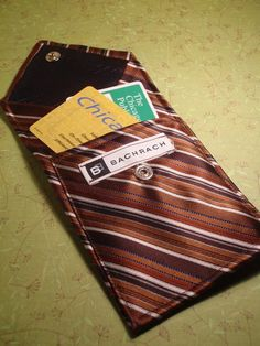 A wallet made from a vintage necktie.