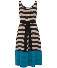 Multi Stripe Cotton And Silk Belted Dress, Sonia By Sonia Rykiel.