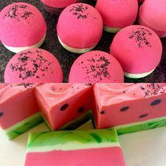 Watermelon bath bombs to match the soaps .. Summer lovin! #sensuallysoaps #luxurysoap #handmadesoap #soap #madelocally #madeinsydney #madeinaustralia #funsoaps #watermelonsoap #aussielife