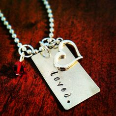 Hand Stamped Loved Necklace by HippieSwankBoutique on Etsy, $28.00