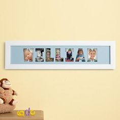 Gift Idea: Personalized Name Frame Photo Collage