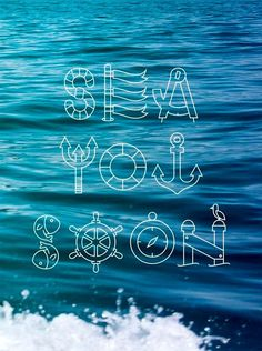 Good Typography is place to find inspiration about typography, calligraphy and lettering. Summer Of Love, Summer Fun, Summer Blues, Summer Beach, Tittle Ideas, Cruise Quotes, Boating Quotes, Sailing Quotes, Boating Tips