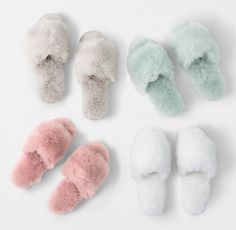 A furry foot bed and rubber sole promise cozy comfort during those late nights and early mornings. All Gifts, Gifts For Her, Faux Fur Slides, Rh Teen, Fuzzy Slippers, Cute Baby Shoes, Style Wish, Womens Slippers, Lounge Wear