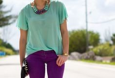 teals and purples oh my!