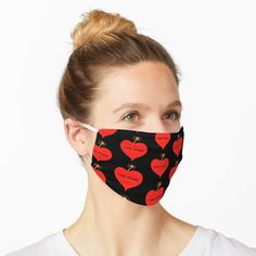 """""""Express Your Love Time Bomb Red Love Heart Design"""" Mask by Pultzar Red Love Heart, Grunge, Blue Garden, Mask Design, Tye Dye, Dog Gifts, Slim Fit, Colorful Flowers, Spring Flowers"""