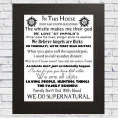 Famille Règles plaque Geek Harry Potter a star wars DR WHO LOTR surnaturel