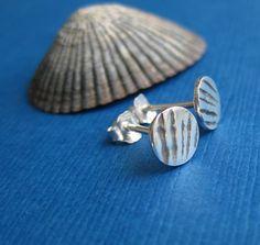 Striped Stud Earrings Unique Earrings for Men or by TwistedDesigns, $25.00