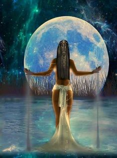Every woman has her seasons, and the Triple Goddess is representative of this. Let's find out more about the Maiden, the Mother, and the Crone and how we can connect with the Triple Goddess in all three forms. Isis Goddess, Goddess Art, Egyptian Goddess, Moon Goddess, Triple Goddess, Aphrodite Goddess, Divine Goddess, Beautiful Goddess, African Goddess