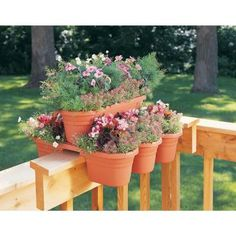 21 In. 4-piece Terra Cotta Plastic Milano Rail/modular Planter (4-pack)