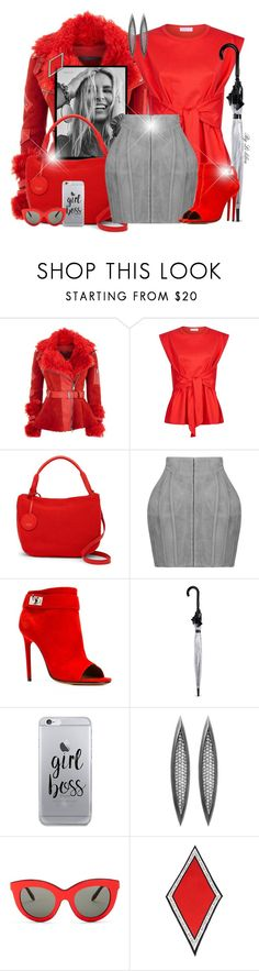 """~ She's a boss! ~"" by li-lilou ❤ liked on Polyvore featuring Alexander McQueen, Sandro, Niki Taylor, The Sak, Balmain, Givenchy, Fulton, Fifth & Ninth, Victoria Beckham and Henri Bendel"