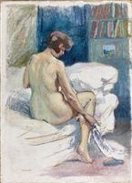 Nu assis by Louis Abel-Truchet