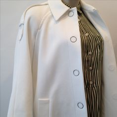 Drykorn A-line White Coat Hixon in Cotton €379 Nice Dress with Zebra Print €110