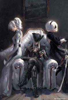 Luna Freya, Lady Maria and 2B by Wlop - Gaming