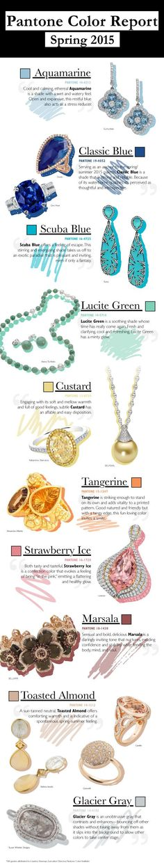 Color Me Sold: Spring 2015's Pantone-Perfect Jewels @pantonecolor #jewelry