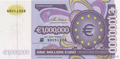 Million Euro - Money Shop Sticker One Million Dollars, One In A Million, Euro, Money Template, Passport Card, Money Shop, Money Notes, Legal Tender, Make Business