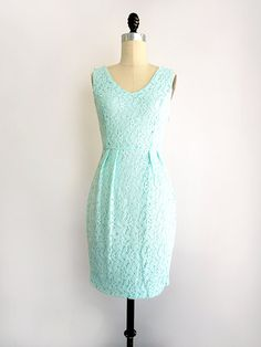 made | designed in Los Angeles A demure and ladylike lace sheath dress inspired by Jackie O. ----- ► refreshing mint green lace dress with slim