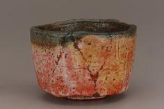 "Tea bowl, copy of ""Kaga Koetsu,"" unknown Raku ware workshop."