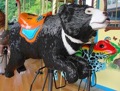 Sloth Bear Carousel Animal at the Akron Zoo by Paula~Koala, via Flickr