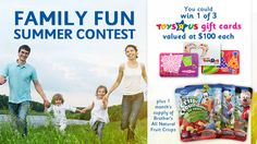You should enter Family Fun Summer Contest. There are great prizes and I think one of us could win!
