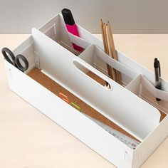 IKEA KVISSLE desk organizer/caddy w/ cork bottom