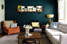 An accent wall can do a lot to refresh a smaller room. | 10 Easy Ways To Transform Your Space With Color