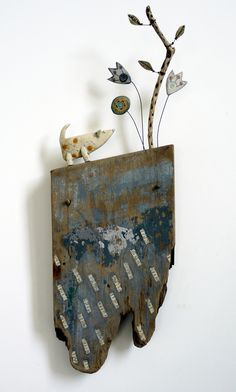 Shirley Vauvelle's mixed media art work is difficult to categorise. She works mainly in three ways, all connected by her love of colour, texture and arrangement of space.
