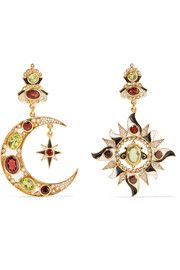 Percossi Papi - Gold-plated multi-stone earrings