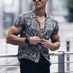 Loose Shirts, Printed Shirts, Long Sleeve Shirts, Cool Shirts For Men, Men Shirts, Shirt Men, Beach Shirts, Vacation Shirts, Couture