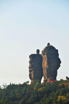 Twin Pagoda Hill - Chengde, Hebei,  China