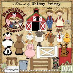 Barnyard Friends 1 - Whimsy Primsy Clip Art Download : Digi Web Studio, Clip Art, Printable Crafts & Digital Scrapbooking!