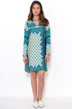 שמלה סטן דפוס  V