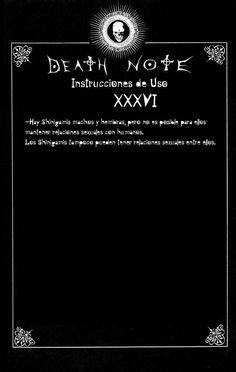 Reglas de uso de Death note Capítulo 0 página 36 - Leer Manga en Español gratis en NineManga.com