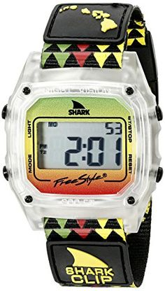 Women's Wrist Watches - Freestyle Unisex 10022119 Shark Clip Hawaii Digital Display Japanese Quartz Black Watch ** Want additional info? Click on the image. (This is an Amazon affiliate link)