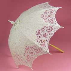 Battenburg Lace Parasol with Ivory post handle...I love these, they're so feminine.
