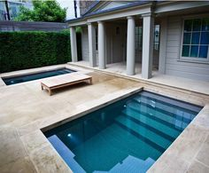 Our highly skilled swimming pool designers work closely with architects and clients on the design and build of pools, spas and leisure areas for both private and commercial installations. Small Swimming Pools, Small Pools, Swimming Pools Backyard, Swimming Pool Designs, Backyard Pool Designs, Small Backyard Pools, Backyard Beach, Dipping Pool, Moderne Pools